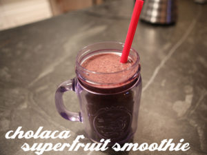 chocolate superfruit smoothie