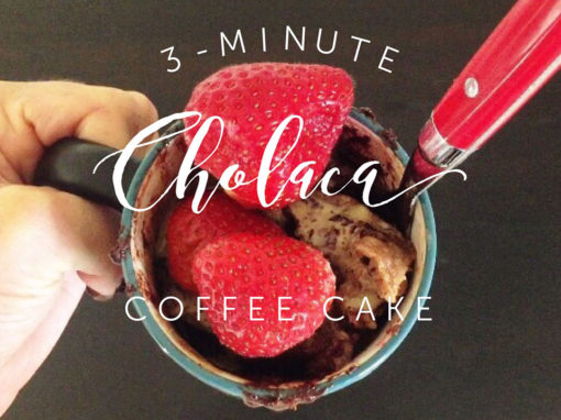 3 Minute Cholaca Coffee Cake