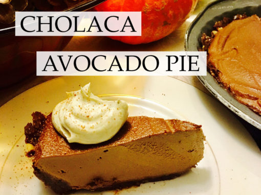 "Cholaca + Avocado ""A Matcha Made in Heaven"" (Pie)"