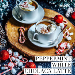 peppermint white cholaca latte