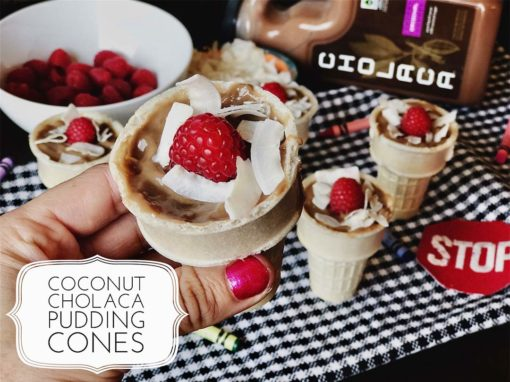 Coconut Chocolate Pudding Cups