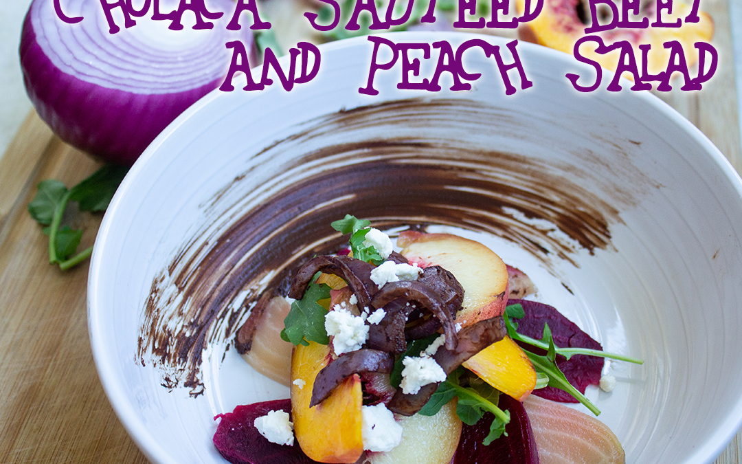 Cholaca Sauteed Beet and Peach Salad