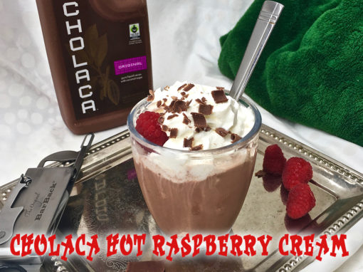 Cholaca Hot Chocolate, Raspberries & Cream