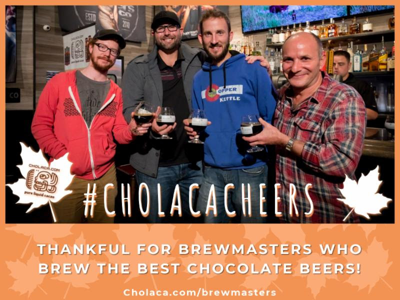 Thankful for Brewmasters who Brew the Best Chocolate Beer