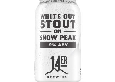14er Brewing Company_ - White Stout on Snow Peak