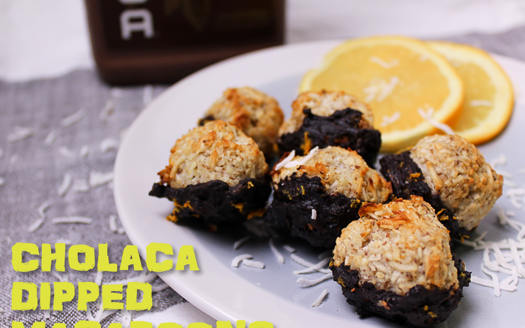 Cholaca Dipped Macaroons | Liquid Cacao Recipes